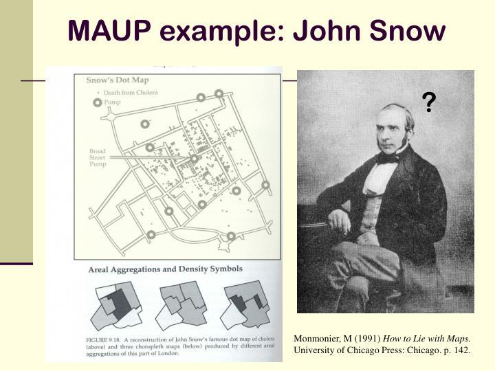 MAUP example: John Snow