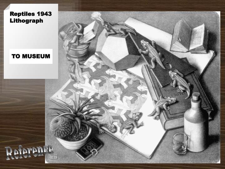 Reptiles 1943 Lithograph