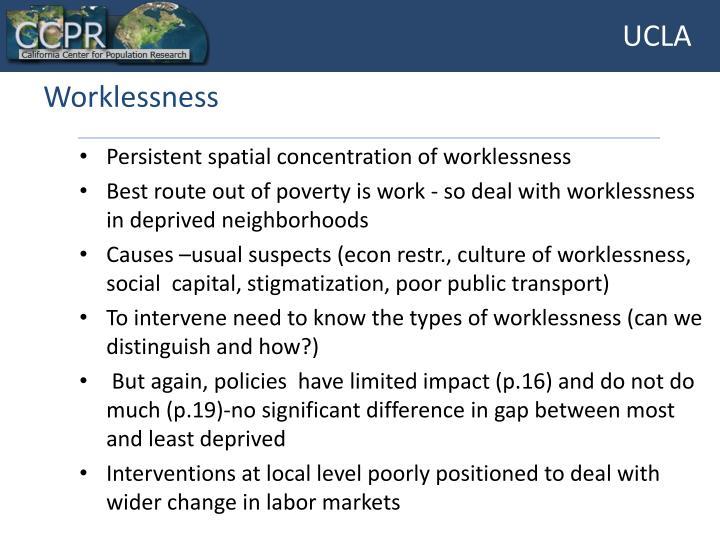 Worklessness