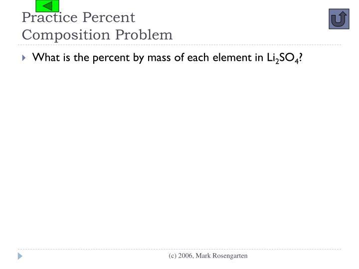Practice Percent