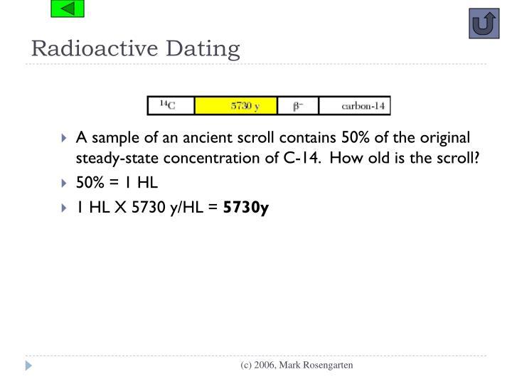 Radioactive Dating
