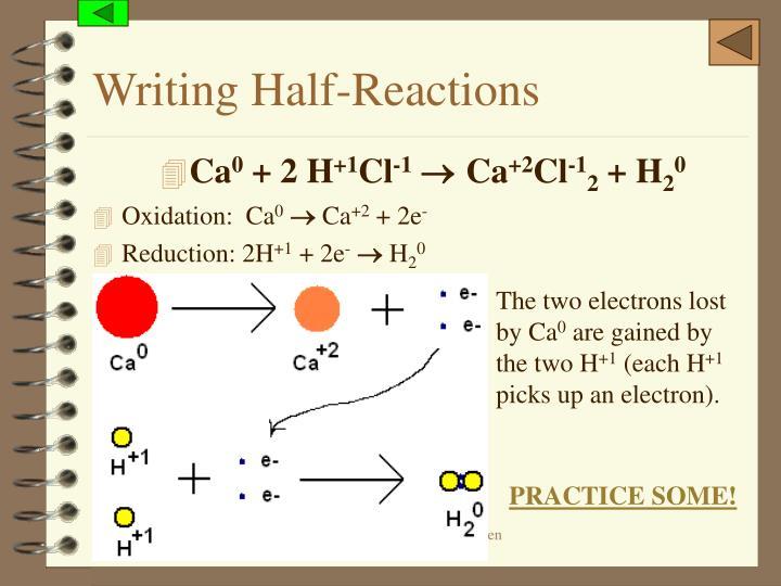Writing Half-Reactions