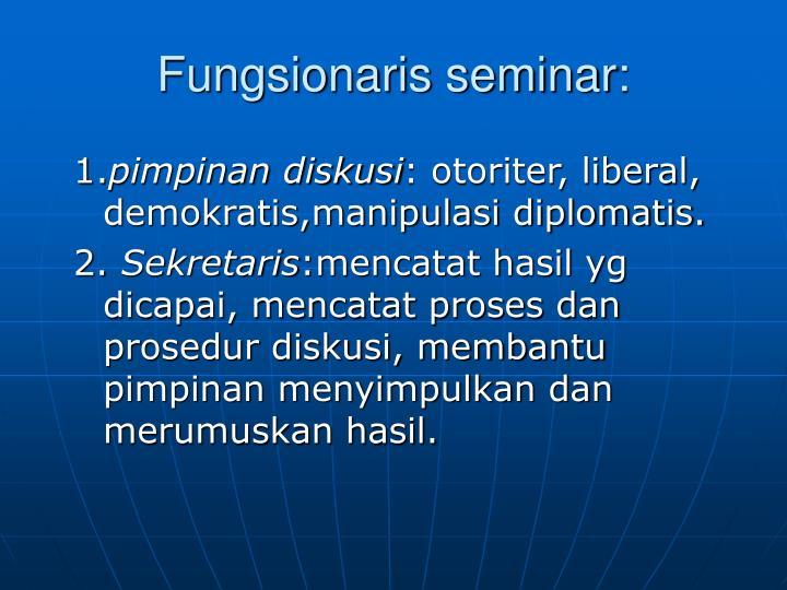 Fungsionaris seminar: