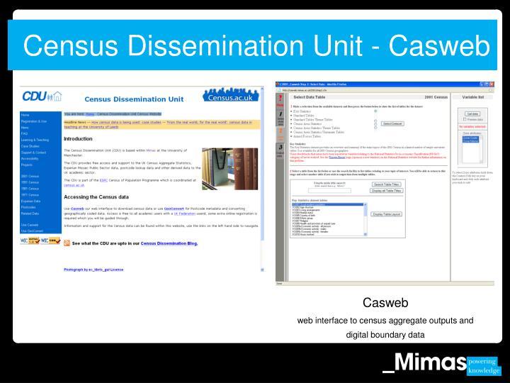 Census Dissemination Unit - Casweb