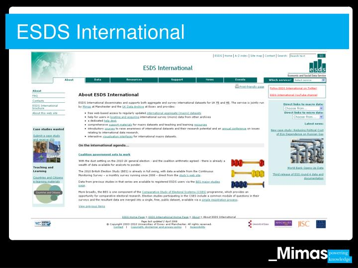 ESDS International
