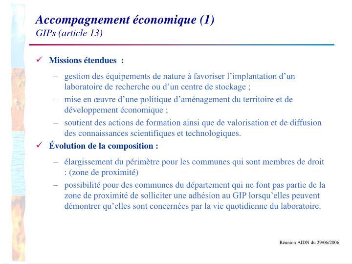Accompagnement économique (1)