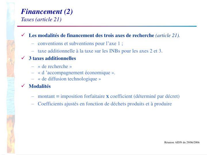 Financement (2)
