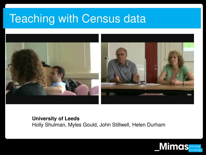 Teaching with Census data
