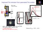 improved thz emission from passivated thz emitter