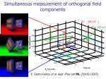 simultaneous measurement of orthogonal field components