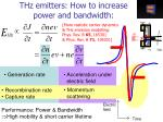 thz emitters how to increase power and bandwidth