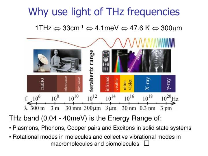 Why use light of thz frequencies