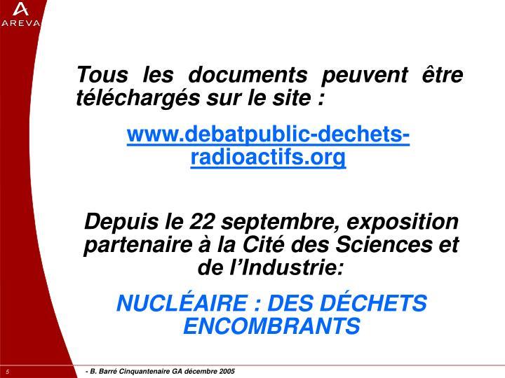 Tous les documents peuvent être téléchargés sur le site :