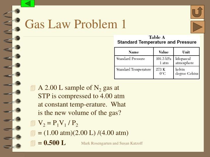 Gas Law Problem 1