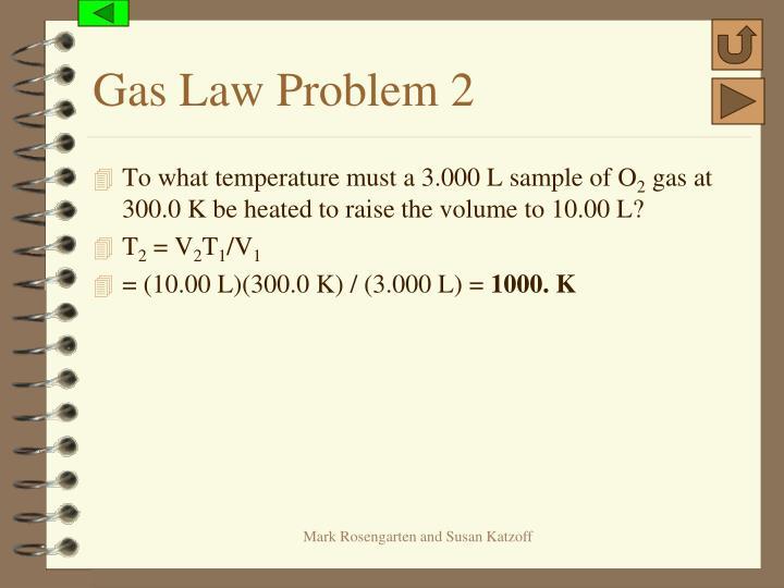 Gas Law Problem 2