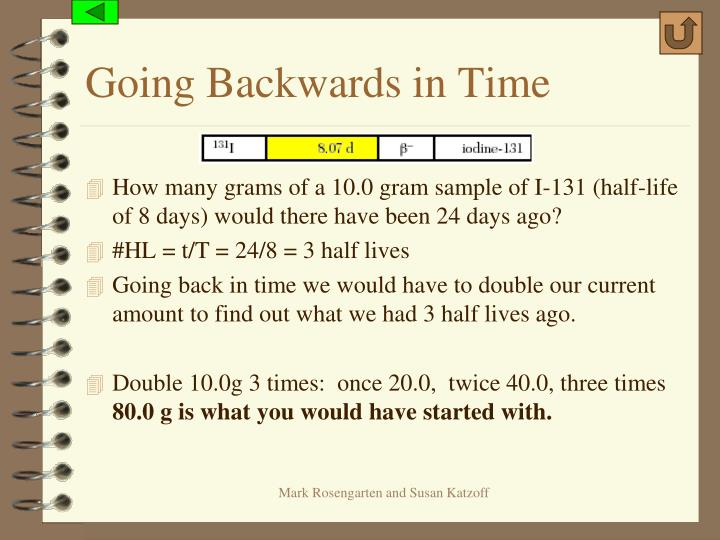 Going Backwards in Time