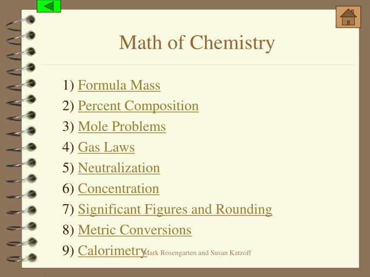 Math of Chemistry