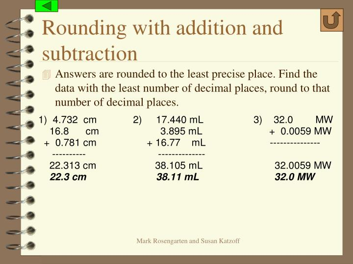 Rounding with addition and