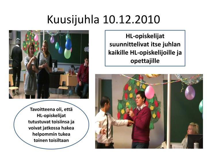 Kuusijuhla 10.12.2010