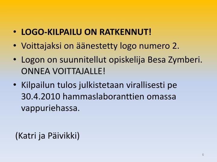 LOGO-KILPAILU ON RATKENNUT!