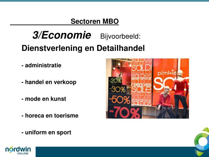 Sectoren MBO
