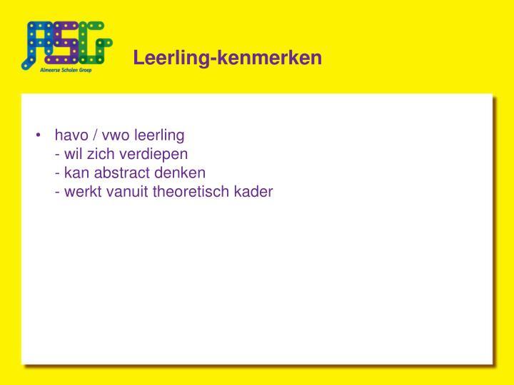 Leerling-kenmerken
