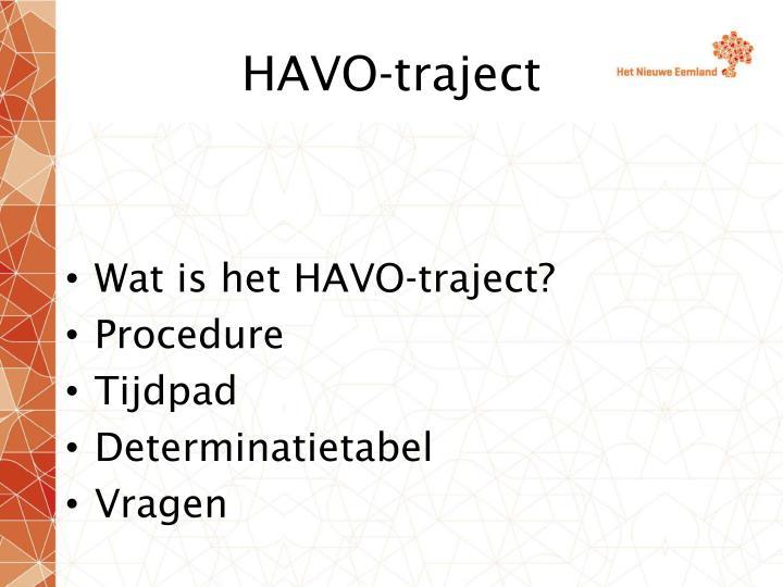 HAVO-traject