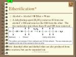 etherification