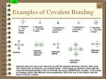 examples of covalent bonding