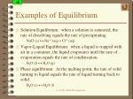 examples of equilibrium
