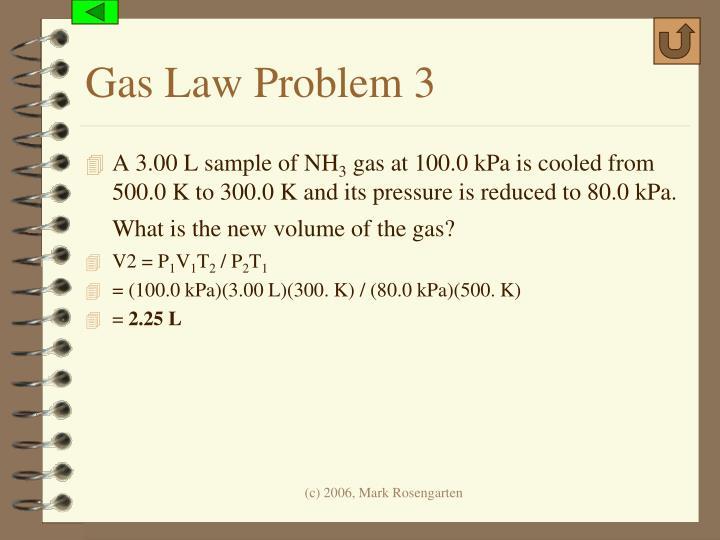 Gas Law Problem 3