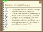 group 18 noble gases