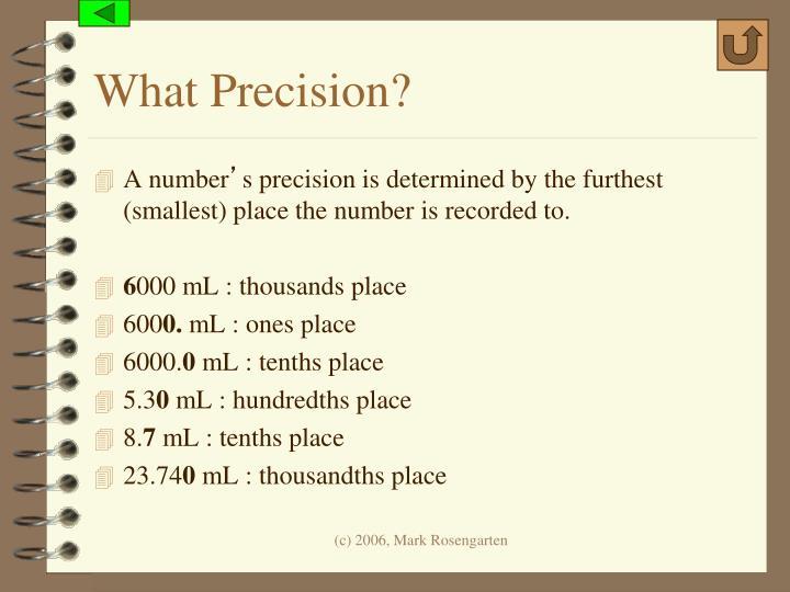 What Precision?