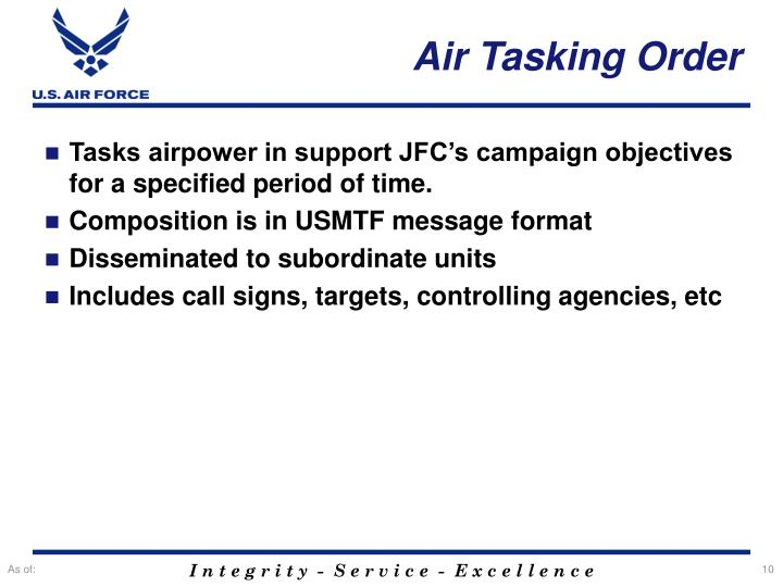 Air Tasking Order