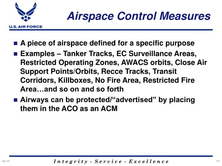 Airspace Control Measures