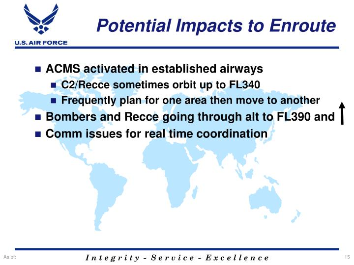 Potential Impacts to Enroute