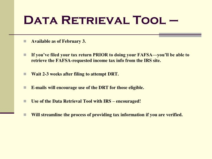 Data Retrieval Tool –