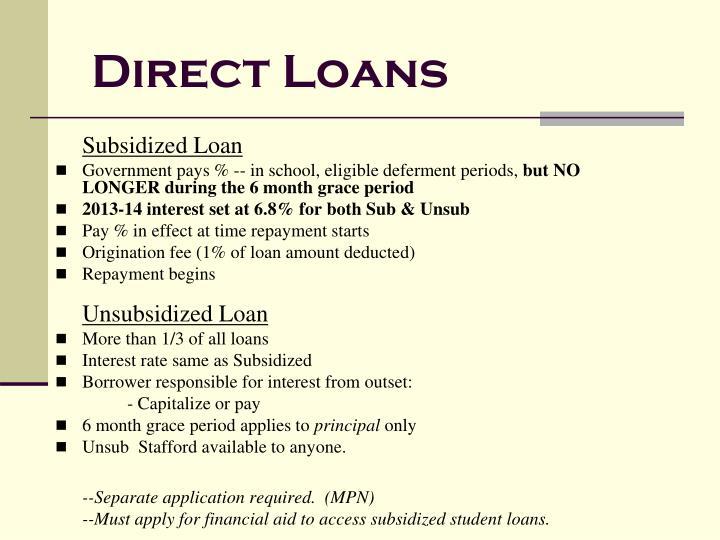 Direct Loans