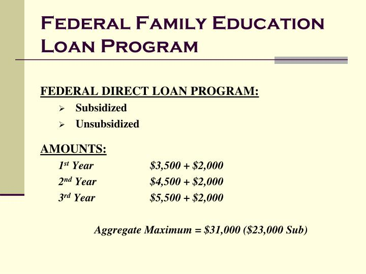 Federal Family Education