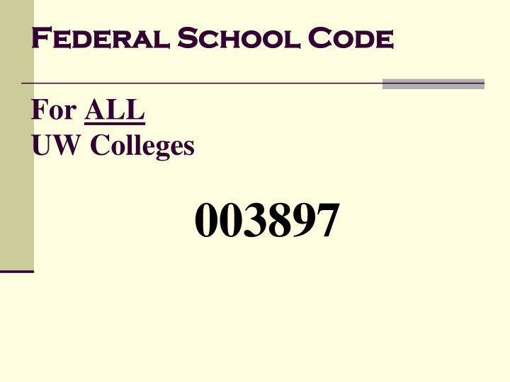 Federal School Code