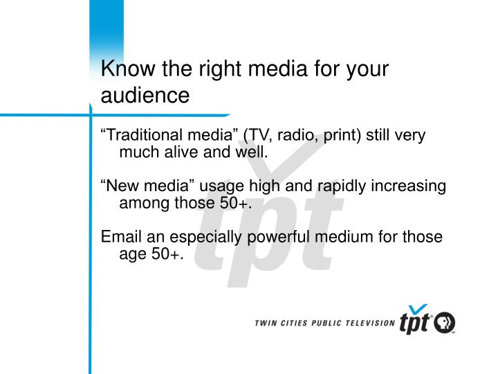 Know the right media for your audience
