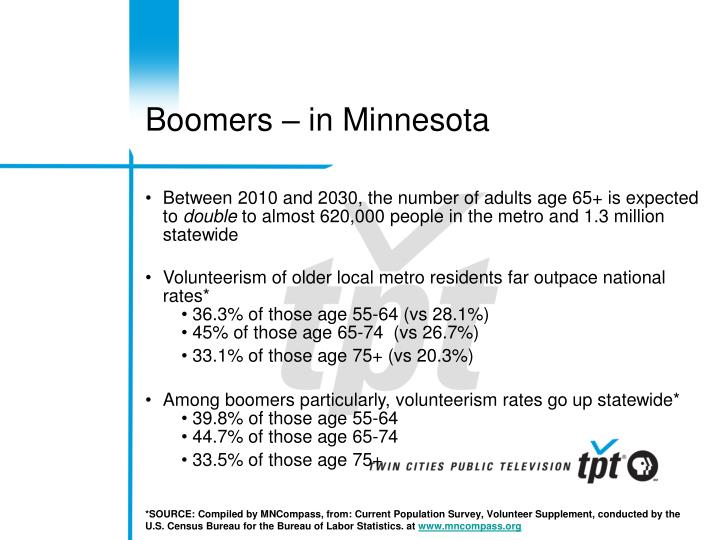 Boomers – in Minnesota