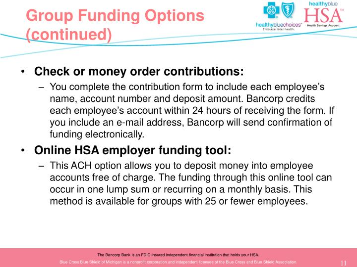 Group Funding Options