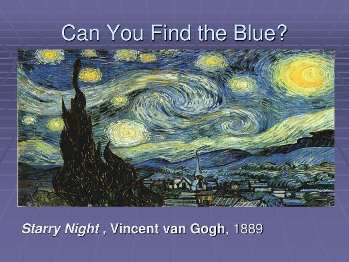 Can You Find the Blue?