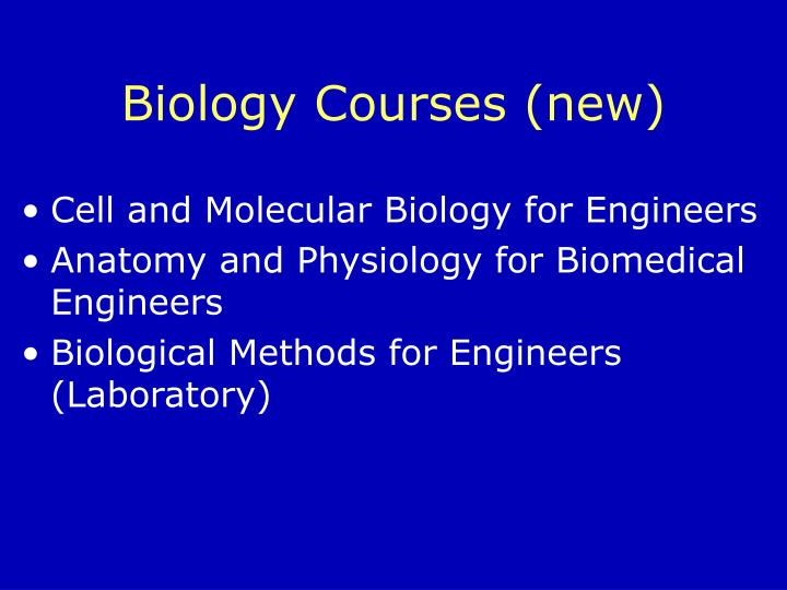 Biology Courses (new)