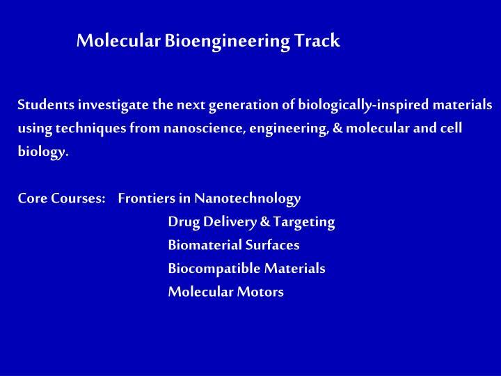 Molecular Bioengineering Track