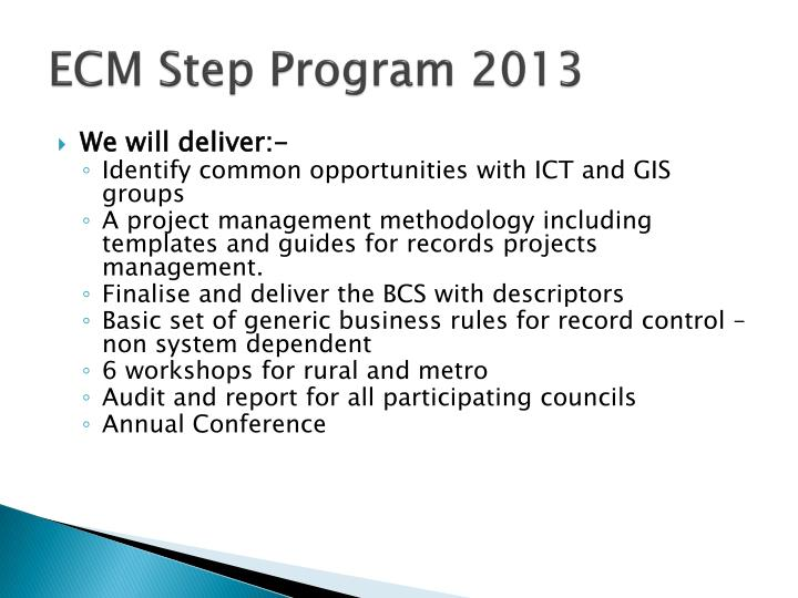 ECM Step Program 2013