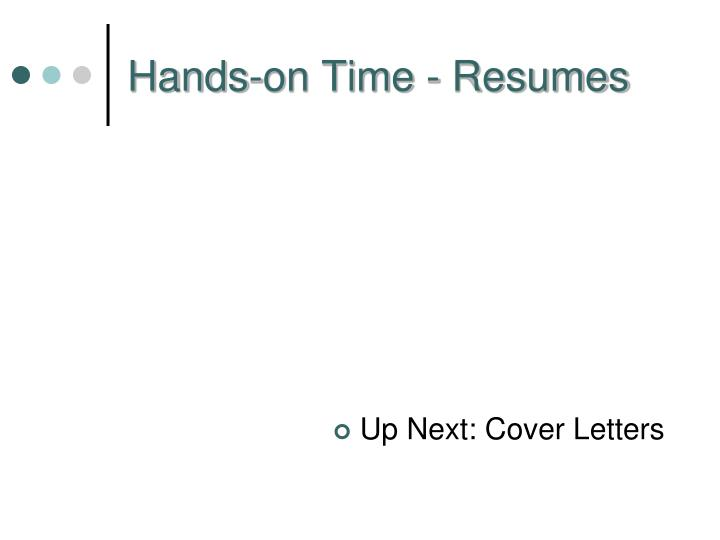 Hands-on Time - Resumes