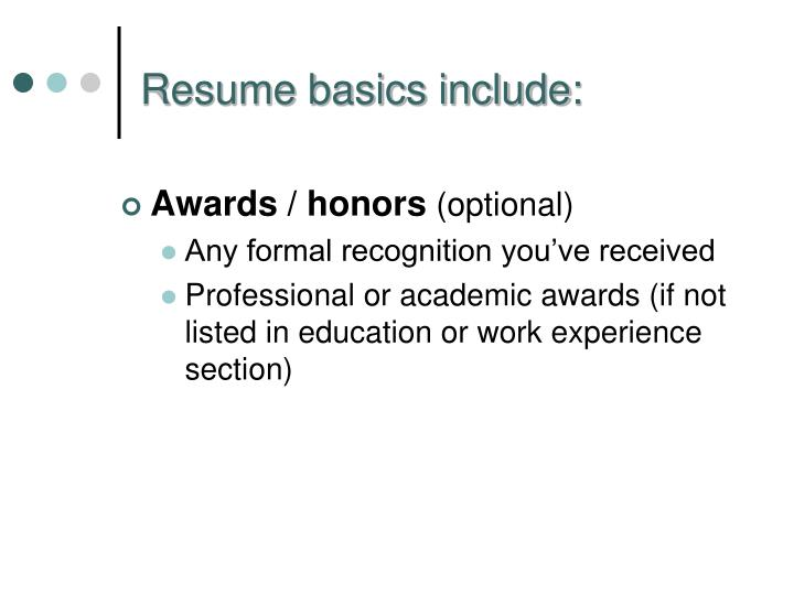 Awards / honors