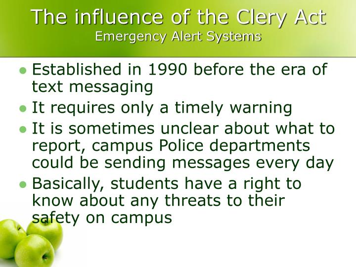 The influence of the Clery Act